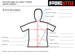 Latex Maßtabelle für Latex-Schnittmuster T-Shirt boundstyle.de