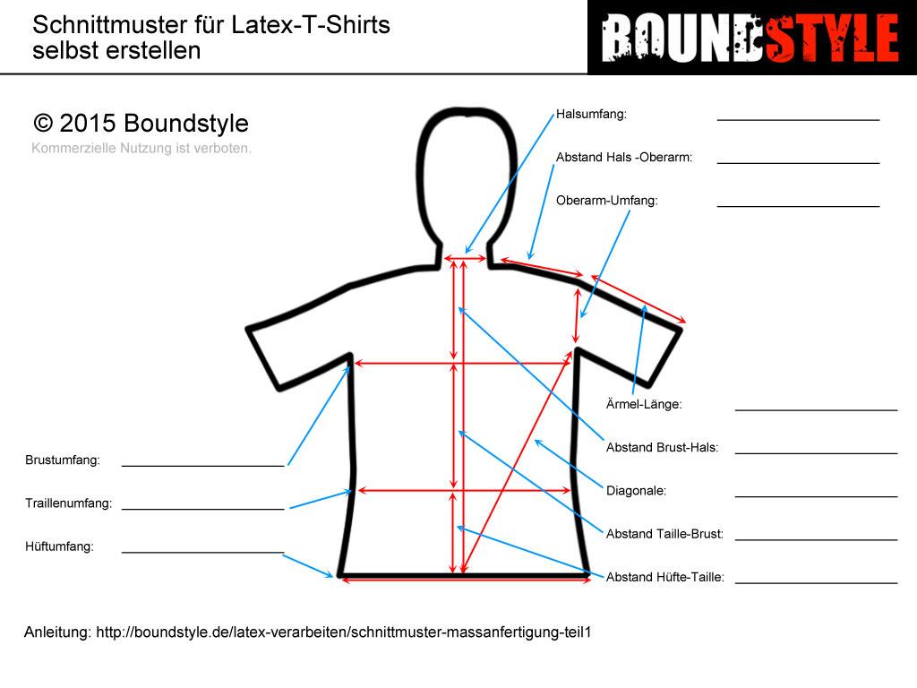 Schnittmuster selbst erstellen - Teil1: T-Shirt auf Maß | BOUNDSTYLE ...